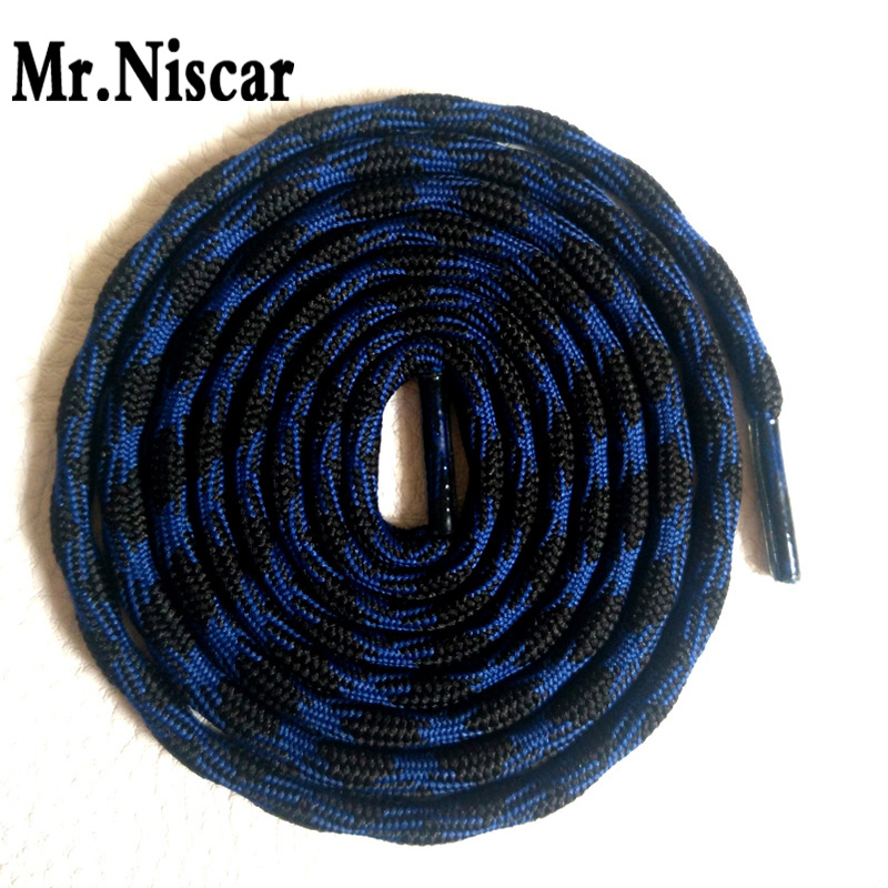 Mr.Niscar 2 Pair Dia 0.5cm Outdoor Sports Sneaker Round Shoelaces Weave Wavy Line Strong Polyester Shoe Laces for Climbing Shoes free shipping 1000m 250lb uhmwpe fiber extreme strong braid spearfishing line round version 1 6mm 16 weave