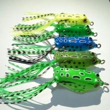 HENGJIA 5pcs/lot 5.5CM 8G Fishing frog Lure for fishing tackle Topwater pesca fishing isca artificial Lure frog bait
