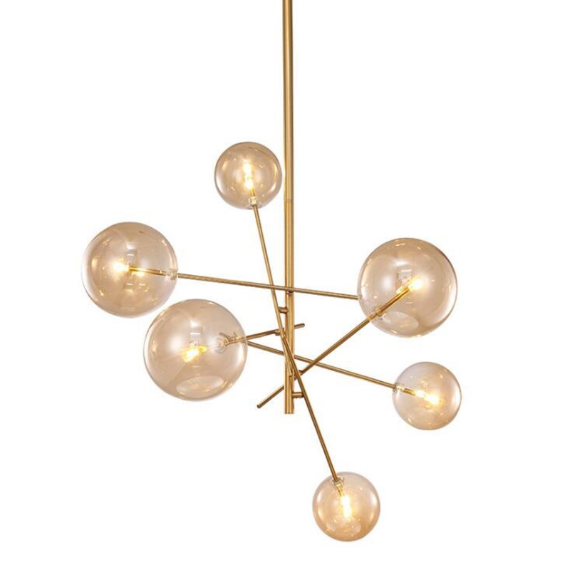 LukLoy Post Modern Branch Chandelier Large And Small Bean Glass Rod Pendant Lamp Light For Ceiling Loft Living Dining Room