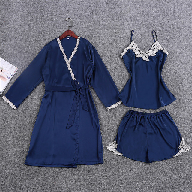 New Arrival Sexy Women's Pajamas Sets Free Shipping Summer Nightwear Robe Sets Plus Size Thin Style Indoor Lingerie Sleepwear