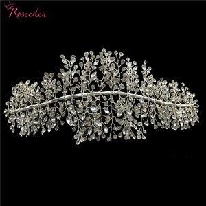Image 5 - Стразы ручной работы с кристаллами, диадемы и короны, свадебный головной убор, аксессуары для свадебных торжеств и выпускного вечера RE3169