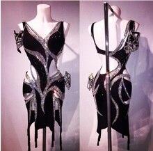 Custom made vestido de dança latina