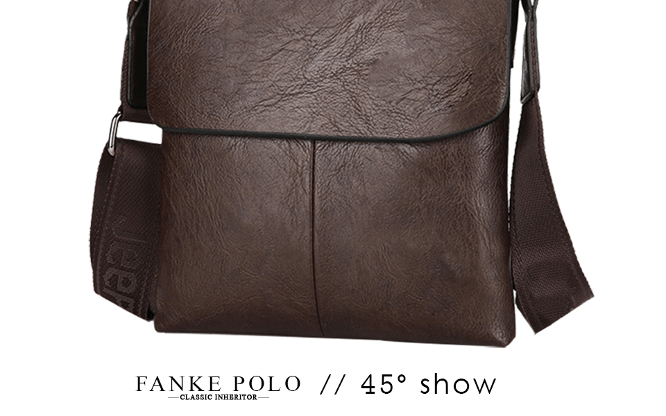 f7a1925b66cc FANKE POLO 2017 New Leather Men Messenger Bags British Style Fashion Travel  Bags All-match Shoulder Bag Casual Office FM170877