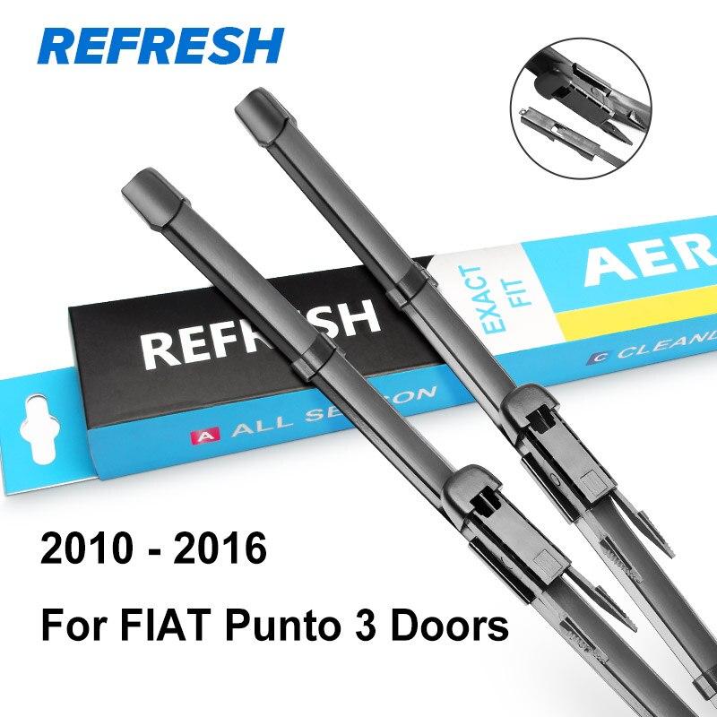 REFRESH Щетки стеклоочистителя для FIAT Punto Evo / Punto 3 двери / Punto 5 дверей / модель Grande Punto Год выпуска с 1999 по год - Цвет: 2010 - 2016 (3 door)