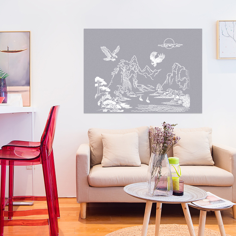 Wall Decoration Gray Color Board