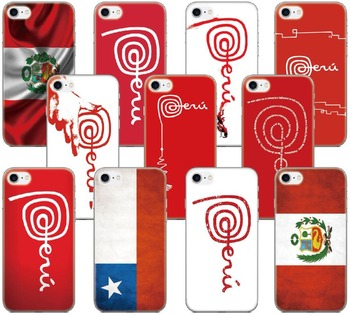 a0923389450 Marca Perú Chile bandera cubierta para iphone X XR XS MAX 5 5S SE 6 6 S 7 8  9 Plus para iPod Touch 5 6 funda de teléfono Coque Fundas parachoques