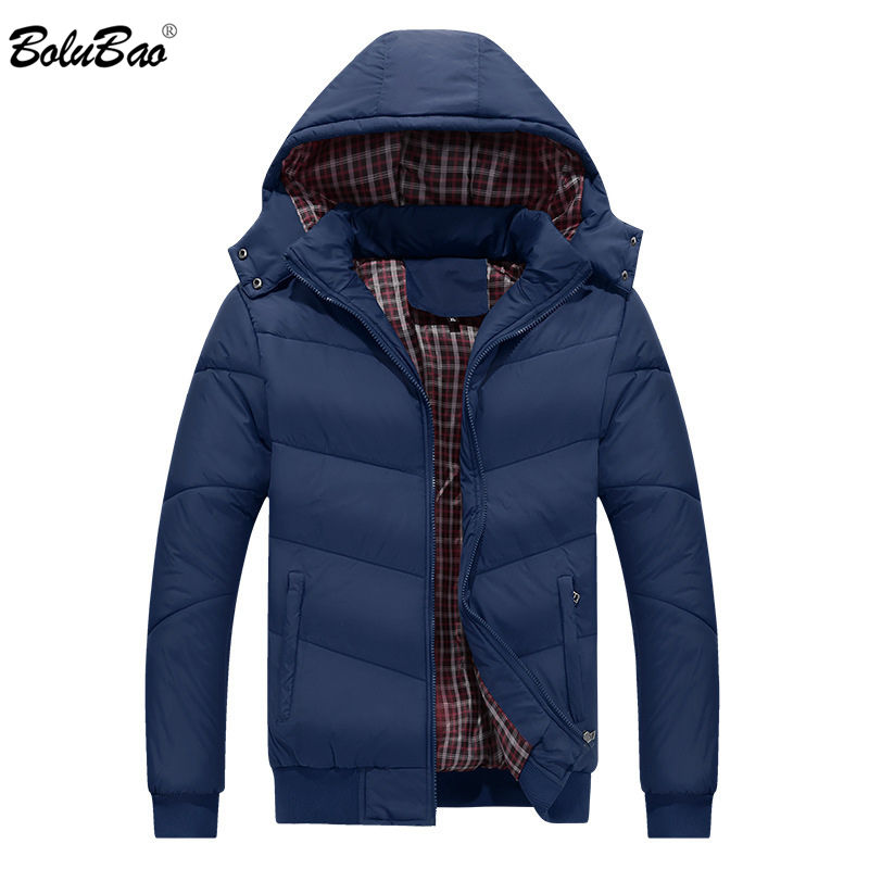 BOLUBAO Brand Men Hooded Parkas New Fashion Mens Quality Casual Parka Coats Male Windproof Winter Parkas Outerwear(China)
