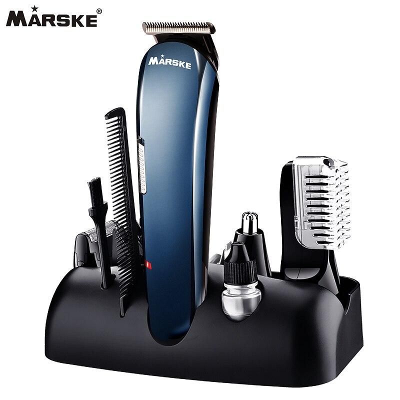 Chaude 5 dans 1 Rechargeable Tondeuse Titane Cheveux Clipper Rasoir Électrique Barbe Tondeuse USB Charge Rasage Tondeuses 550