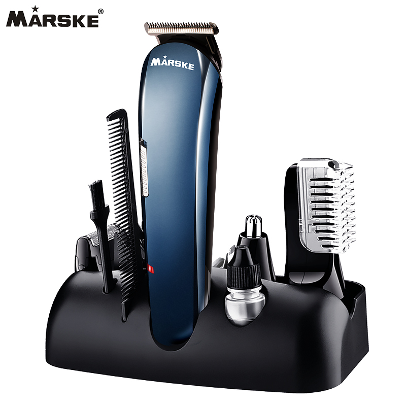 Hot 5 in 1 Rechargeable Hair Trimmer Titanium Hair Clipper Electric Shaver Beard Trimmer USB Chargeable Shaving Clippers 550