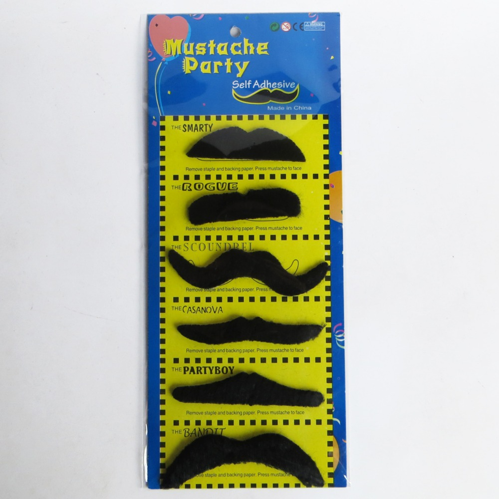 6Pcs/12Pcs Creative Funny Costume Pirate Party Cosplay Fake Mustache Moustache Funny Fake Beard Whisker Drop Shipping