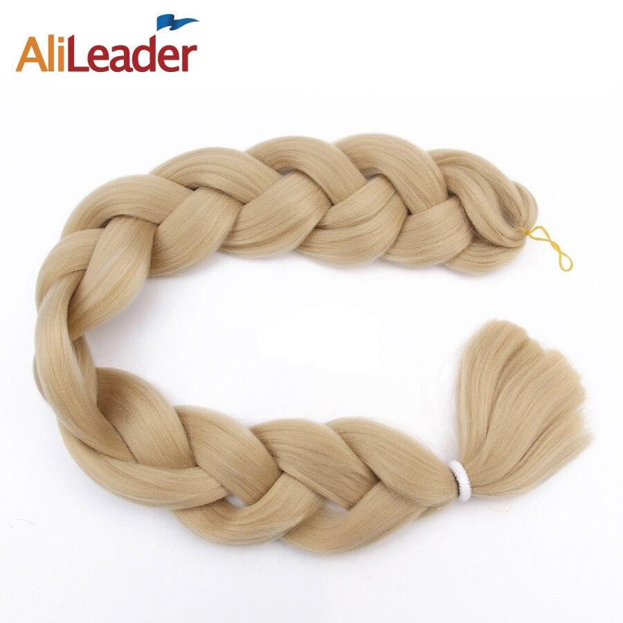"Alileader 5Pcs/lot Kanekalon Xpression Braiding Hair, Pure Color Blue Purple Pink Synthetic Crochet Braids 36"" Hair Extension"