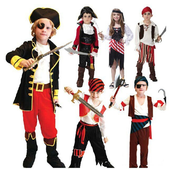 338227d1 US $16.9 | Children Boy Girl Pirates Cosplay Costume Fancy Dress  Performance Buccaneer Outfit Birthday Party Purim Halloween Christmas on ...