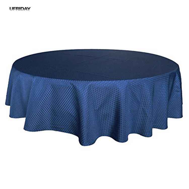 Us 18 99 35 Off Ufriday Round Tablecloth Waterproof Table Cloth Navy Blue Plaid Polyester Cover For Party Home Kitchen Decor Cloths In