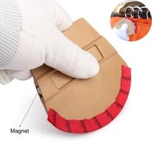 FOSHIO escobilla de goma magnética para coche, rascador magnético de tela de microfibra delgada para tinte automático, película adhesiva para coche, superficie, herramienta de envoltura de vinilo