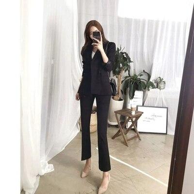 Tempérament Grande Veste Casual 2 Mince Costume Nouvelle Pantalon Petit 1 Professionnel Taille Automne Femmes De Mode TPpFzwqT