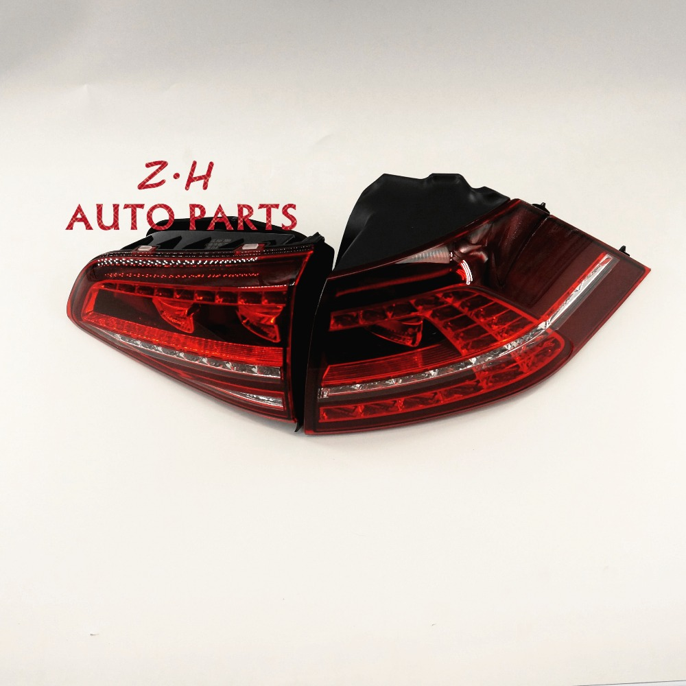 2 x LED Dark Red Taillights Tail Lamps Tail Light Left Fit For VW Golf GTI R OEM 5G0 945 207 5G0 945 307 OEM