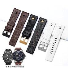 Bracelet de montre en cuir avec rivet, nouvelle mode, pour diesel DZ7313 DZ7333, 7322, 7257, 4318, 7348, 7334, rechange