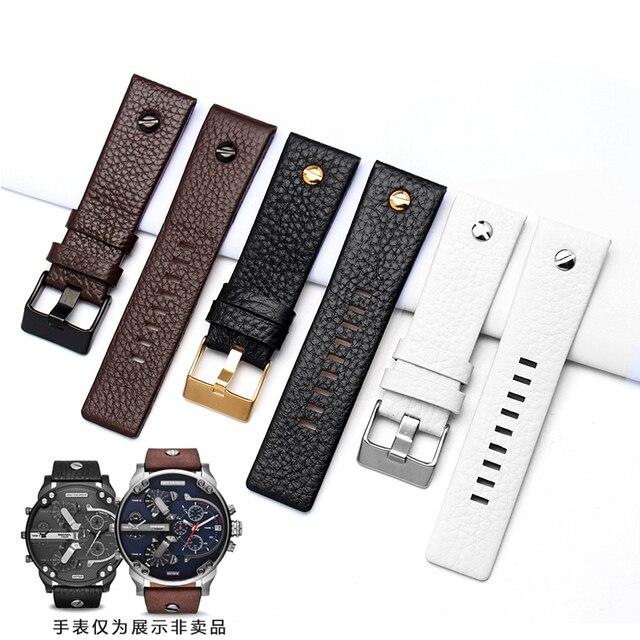 New Fashion Leather Watchband with rivet Watch Strap Belt Bracelet for diesel DZ7313 DZ7333 7322 7257 4318 7348 7334 Replacement