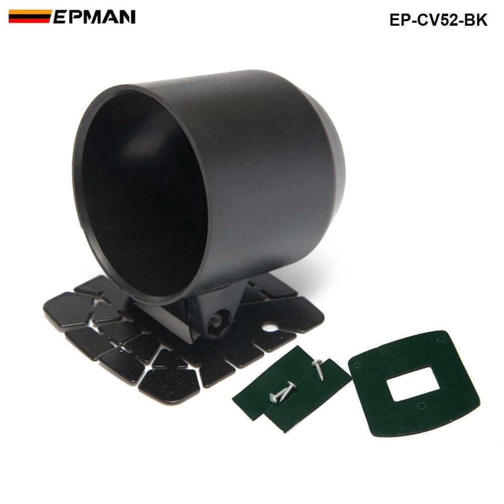 Gauge Pod 52mm Universal Gauge Cup Car Mount Holder Plastic Single Auto Car Meter Pods Dash Pod Mount Bracket EP-CV52-BK