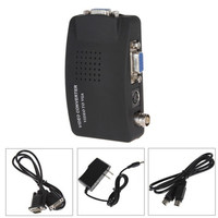 TV BNC Connecter Cable S Video VGA Input To Output PC Converter Adapter For CCTV DVD
