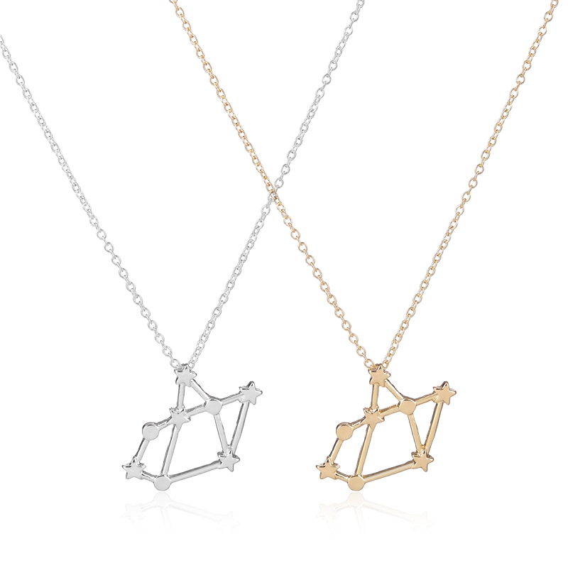2017 new trendy necklace sagittarius zodiac signs