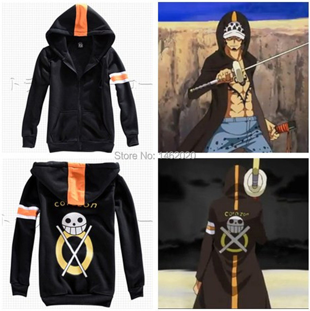 a7be42709b5f One Piece Trafalgar Law Time Skip Dressrosa Cosplay Unisex Hooded Jacket  Sweater two years later Cardigan Zipper Hoodie Costume