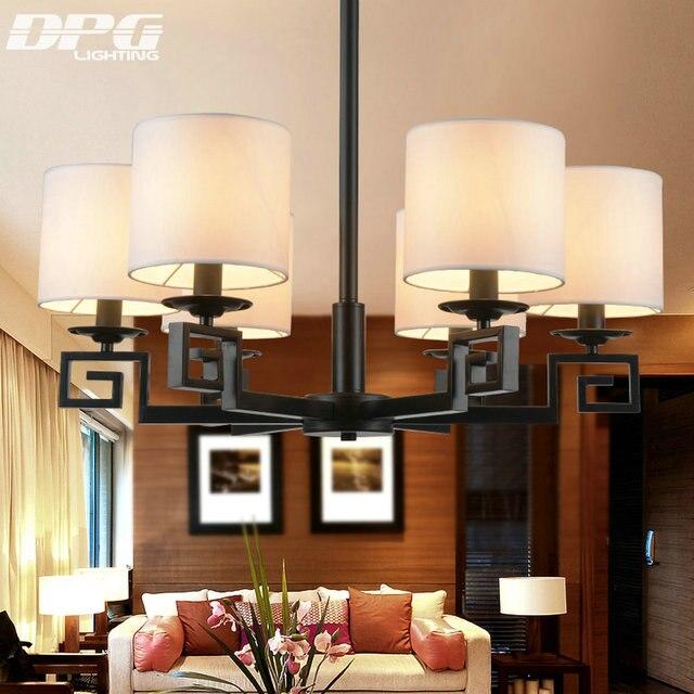 China Stoffschirm Eisen Kronleuchter Leuchten Luminaria Lustre Decke  Kronleuchter E14 Licht Für Schlafzimmer Wohnzimmer Lampe