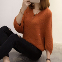 5537 To Film The New Rabbit Bat Sleeve Nail Bead Knitwear 54 Number 16