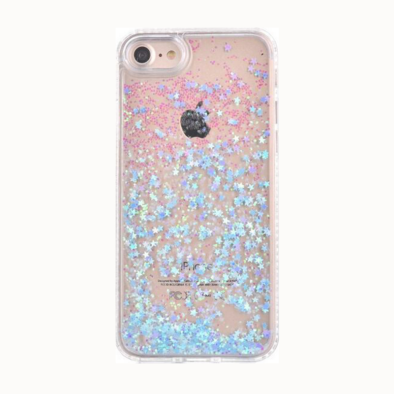save off f98fd 121e6 Christmas Gift Cartoon Colorful Diamond Love Sequin Bright Glitter  Quicksand Clear Pc+Tpu Case For Iphone