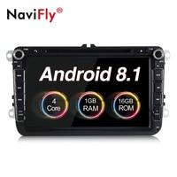 NaviFly 8 inch Quad Core Android 8.1 Car dvd player For POLO PASSAT B6 B5 B7 Golf 5 6 Skoda Seat JETTA with GPS navigator radio