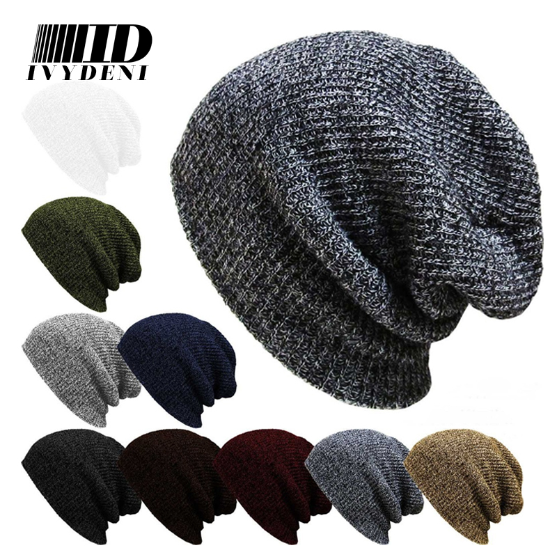 Winter Casual Hip Hop Beanies Hat Men Male Women Knitted Toucas Bonnet Hats For Men Women Crochet Ski Cap Warm Skullies Gorros winter hat casual women s knitted hats for men baggy beanie hat crochet slouchy oversized ski caps warm skullies toucas gorros