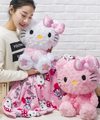 Felpa 1 unid 160 cm sakura My Melody hello kitty dollcoral polar resto oficina cojín + manta de peluche de juguete de regalo romántico bebé