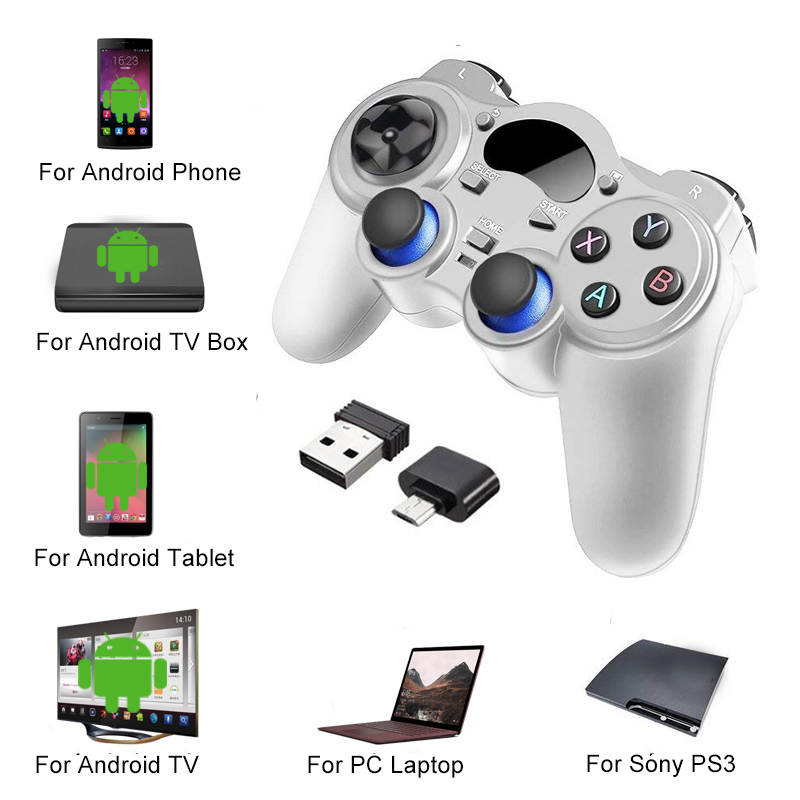 2 4 G Controller Gamepad Android Wireless Joystick Joypad with OTG  Converter For PS3/Smart Phone For Tablet PC Smart TV Box
