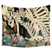 Японский Ukiyoe гобелен хиппи домашний декоративный настенный гобелен пляжный коврик для йоги Покрывало Скатерть