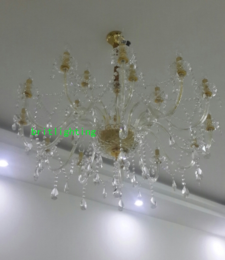 Aliexpress Buy Chandelier Led For Staircase Lighting Brass Chain Modern Crystal Light Dining Room Double Layer From