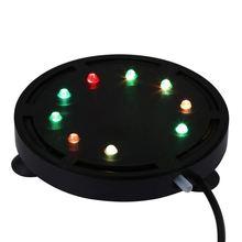 EU Plug 9 LEDs Lapme Aquarium Air Bubble Waterproof Light Bubble Air Bubble Subemersible Lamp For Aquarium Air Bubble Lamp 10.