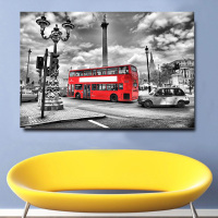 1 Pieces Modern Home Decor Pictures For Living Room Red London Bus HD Print On Canvas Painting Wall Art Decoracion Salon
