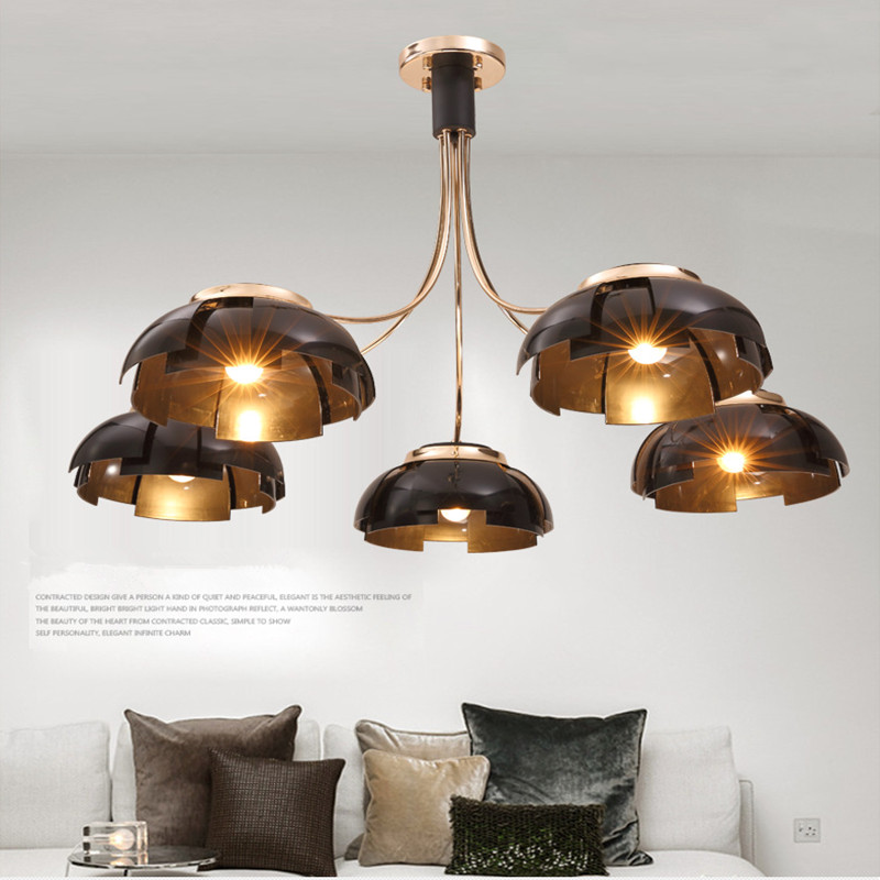 Nordic Black / Gold Northern Europe Modern Creative Iron Pendant Lamp Bar Cafe Restaurant Lamp E27 Lights Free Shipping цены
