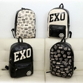 EXO Backpack Knapsack 2016 New Leather Trendy College Backpacks For Teenage Girls School Bag For Teenagers EXO Mochila Escolar
