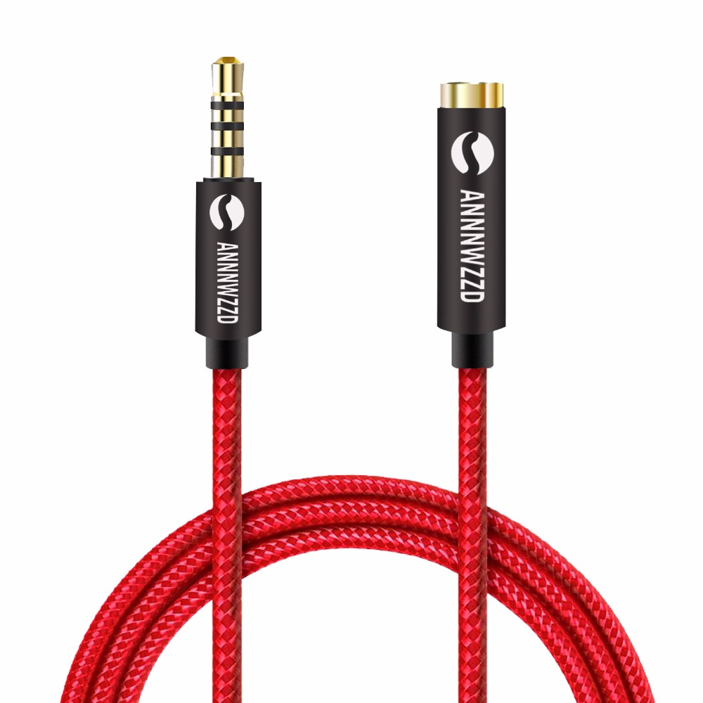 ANNNWZZD Jack 3.5mm Audio Extension Cable Male to Female Aux Cable 1m 2m 3m 5m Headphone Extension Cable for Computer MobilePhon