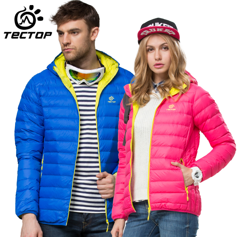 Autumn and winter outdoor down Jacket slim ski suit waterproof thick eiderdown hiking Jacket pu leather and corduroy spliced zip up down jacket