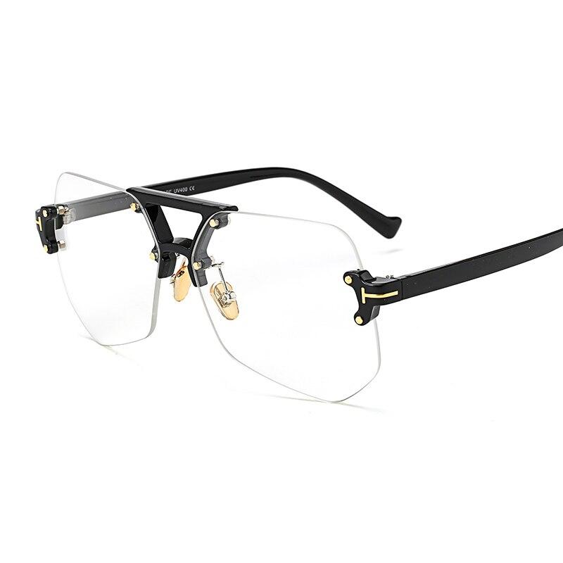 Peekaboo moda transparente gafas marcos para las mujeres hombres ...
