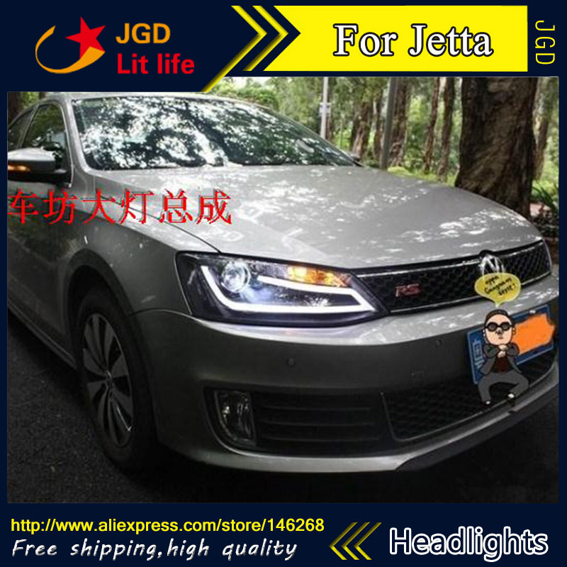 Auto Part Style LED Head Lamp for VW Volkswagen Jetta 2012 2013 led headlights drl hid Bi-Xenon Lens low beam hot sale abs chromed front behind fog lamp cover 2pcs set car accessories for volkswagen vw tiguan 2010 2011 2012 2013