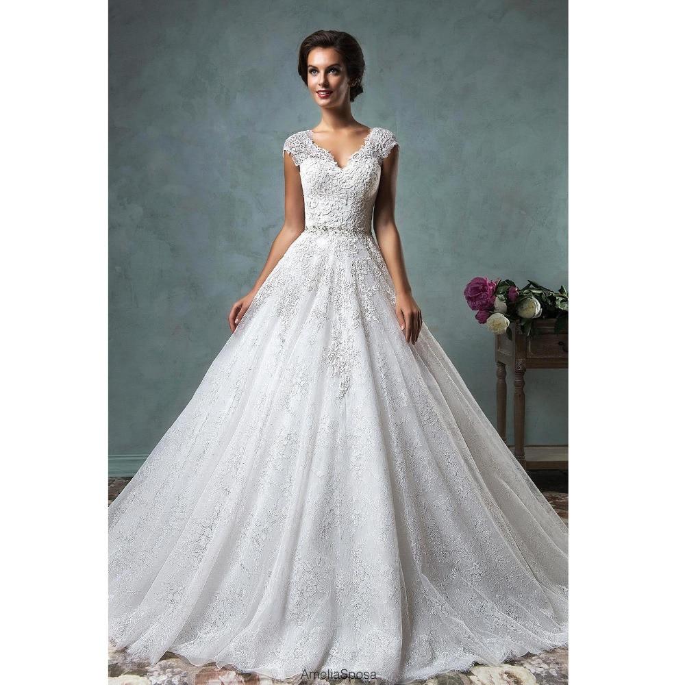 Champagne Color Wedding Dresses Vestidos De Noiva 2017: Vestido Noiva 2017 Custom Made White/Champagne Tulle