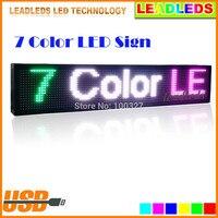 30x6 дюймов полный Цвет RGB Программируемый Прокрутка сообщение светодиодный дисплей вывеска Поддержка для нескольких языков отображения