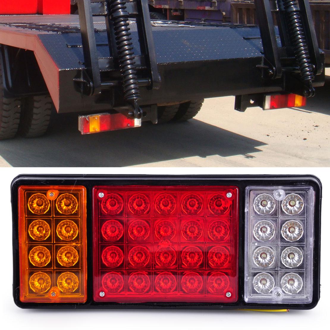 12V 36 LED Rear Turn Signal Truck Trailer Stop Tail Lights Indicator Lamp Caravan External Light fit for Trailers Trucks Boat