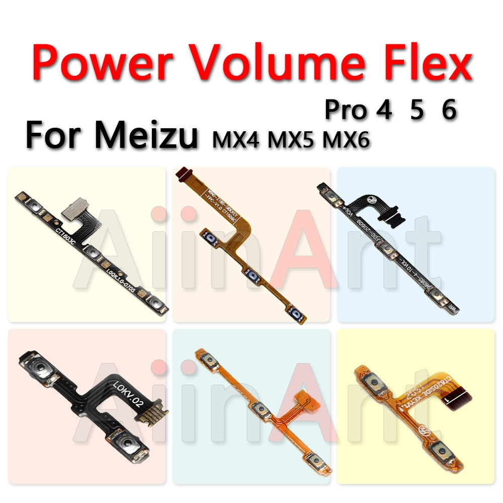 Aiinant Volume Switch on off Button Key Power Flex Cable For Meizu MX4 MX6 MX5 MX6 MX PRO 4 5 6 7 Mobile Phone Parts