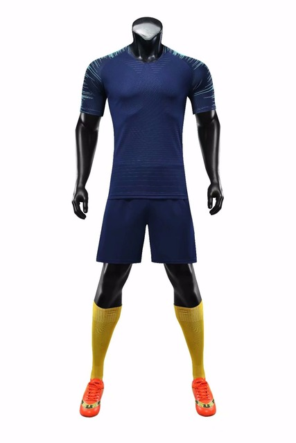 Men s plain soccer jerseys and shorts adult blank soccer sets male soccer football  kits customized any logos and name and number 1854afa552d0