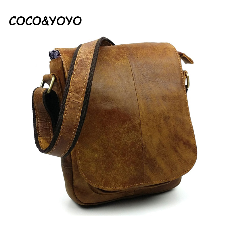 ФОТО 2016 New Arrival Brand Fashion Brown Guarantee 100% Genuine Leather Women Messenger Bags High Qualoty Casual Men Shoulder Bags