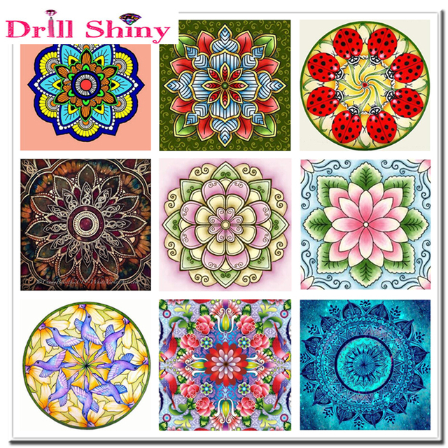 5d diamond painting color mandala cross stitch kit diamonds